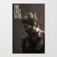 last of us Canvas Prints featuring The Last Of Us by MCMLXXXV DESIGN