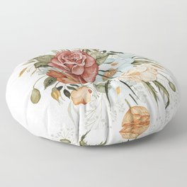 Roses and Poppies Floor Pillow