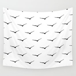 Bird Silhouette Wall Tapestry