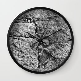 Old igneous stone wall Wall Clock