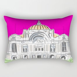 Bellas Artes architectural city ecopop Rectangular Pillow