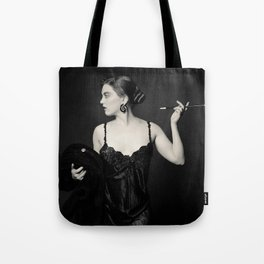 """A Noir Night Out"" - The Playful Pinup - Modern Gothic Twist on Pinup by Maxwell H. Johnson Tote Bag"