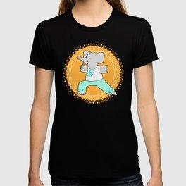 Yoga elephant - warrior pose T-shirt