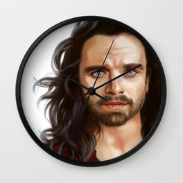 bucky with the good hair Wall Clock