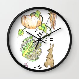 Bunny in The Veg Patch Wall Clock