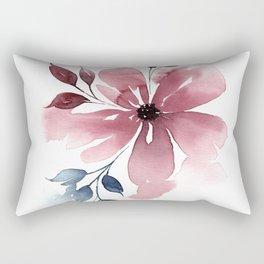 Modern Watercolor Florals No. 4 Rectangular Pillow