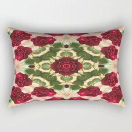 Old Red Rose Kaleidoscope 6 Rectangular Pillow
