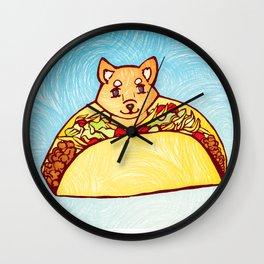 Shiba Taco Wall Clock