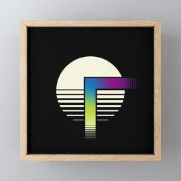 Neon Faucet Framed Mini Art Print