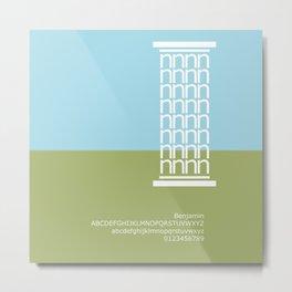 GREECE - FontLove Metal Print