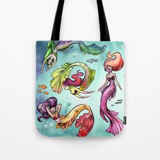 Watercolor Mermaids Tote Bag