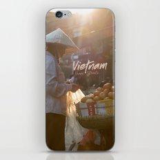 Vietnam street market iPhone Skin