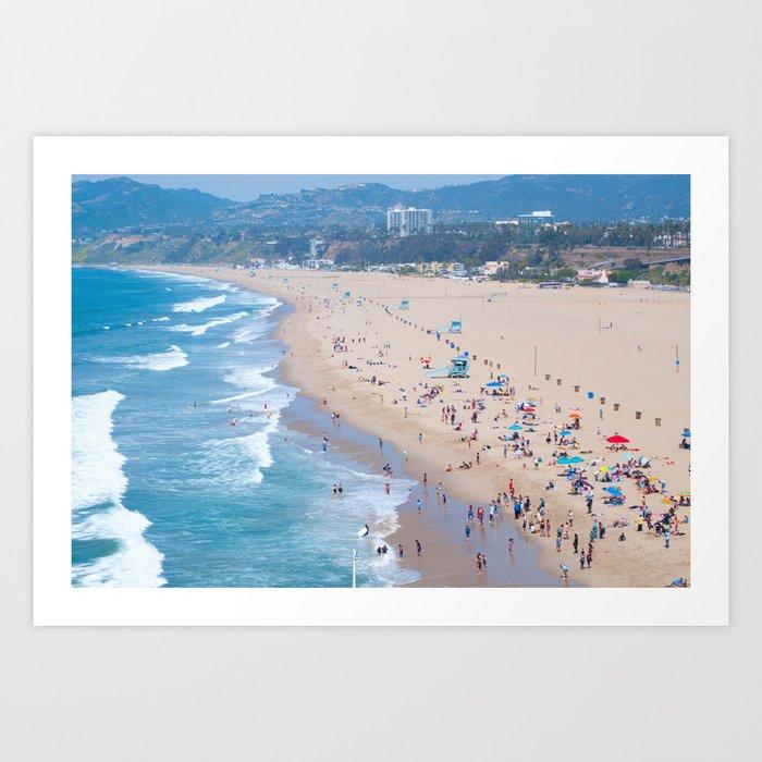Santa Monica Beach I Art Print