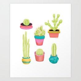 Cacti Family Portrait Art Print