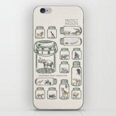 Protect Wildlife - Endangered Species Preservation  iPhone & iPod Skin
