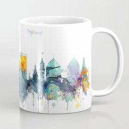 Oakland California Blue  skyline print Coffee Mug