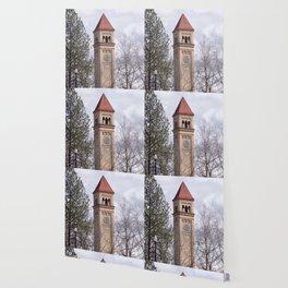 Beautiful Old Clock Tower In Spokane, Washington, Vintage Train Station Clock Tower Wallpaper
