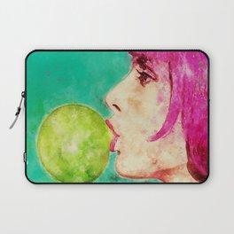 Bubble gum girl Laptop Sleeve