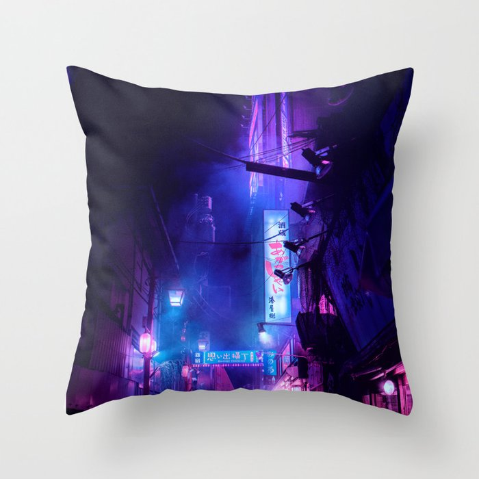Tokyo Nights / Midnight City / Liam Wong Throw Pillow