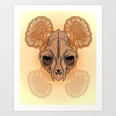 War mask Art Print