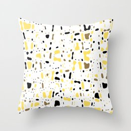 Coffee spots, simple abstract illustration in delicate colors,texture design, pattern Throw Pillow