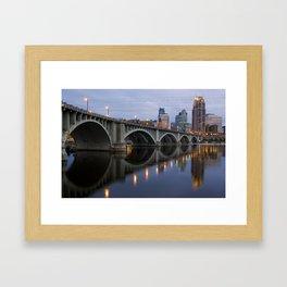 Minneapolis 3rd Avenue Bridge Framed Art Print