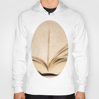 kindle Hoodies featuring Silent Reading II by Rose Etiennette