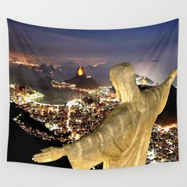 Christ the Redeemer ✝ Statue  Wall Tapestry