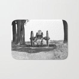 Civil War Cannon Photography Art Bath Mat