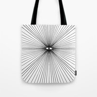 all seeing eye Tote Bags featuring all seeing eye by Bunny Miele