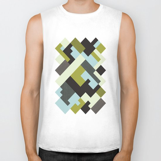 Rectangular geometric Biker Tank
