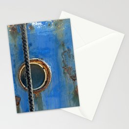 Blue Rusty, Grungy Ship Detail Stationery Cards