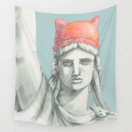 Liberty in PINK skyblue Wall Tapestry