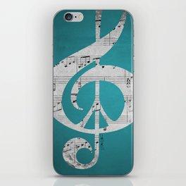 Music & Peace Aqua Sheets iPhone Skin