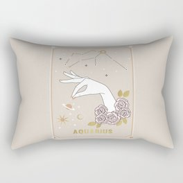 Aquarius Zodiac Sign Rectangular Pillow