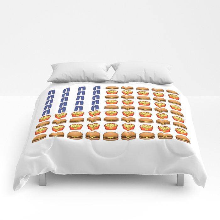Emoji USA Flag Comforters by brookekelty