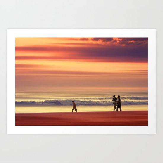Golden Ocean Art Print