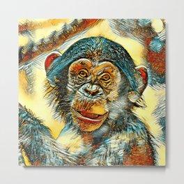 AnimalArt_Chimpanzee_20170602_by_JAMColorsSpecial Metal Print
