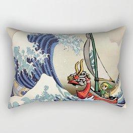 Great Wave + Link Rectangular Pillow