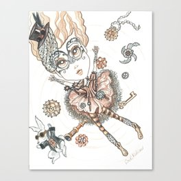Steampunk Alice Falls Down Canvas Print