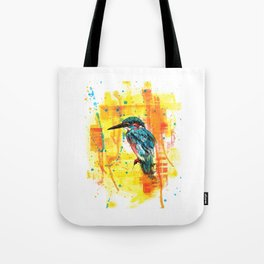 Painting of Kingfisher Tote Bag