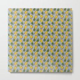 Polka Pinapples Metal Print