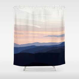 Pastel Sunset Over the Mountains Shower Curtain