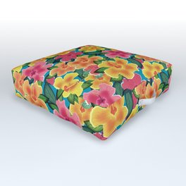 Hibiscus Outdoor Floor Cushion