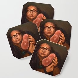 Danny DeVito with his beloved ham Coaster