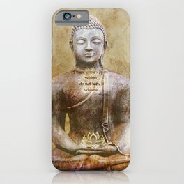Buddha - Peace Comes From Within iPhone Case
