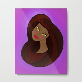 Sable Mod Girl Metal Print