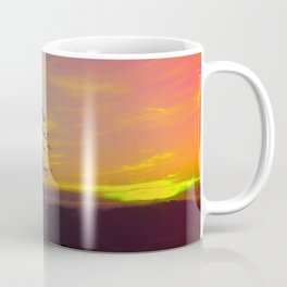 Old tree and colorful sundown panorama | landscape photography Coffee Mug