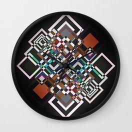 textile geometry Wall Clock