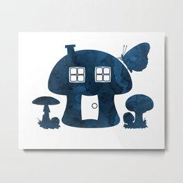 Mushroom House Metal Print